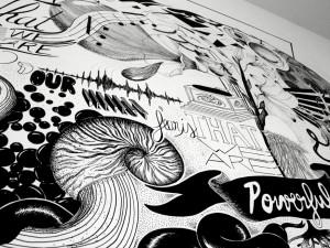 POWERFUL – fresque intérieure