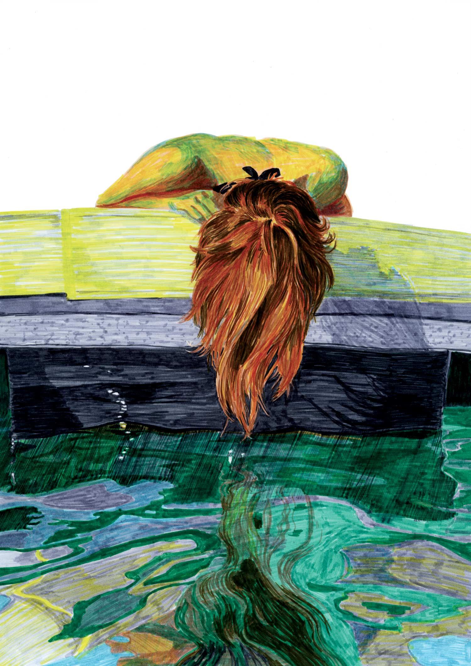 eau_mer_reflet_femme_cheveux_illustration_feutre_molesti
