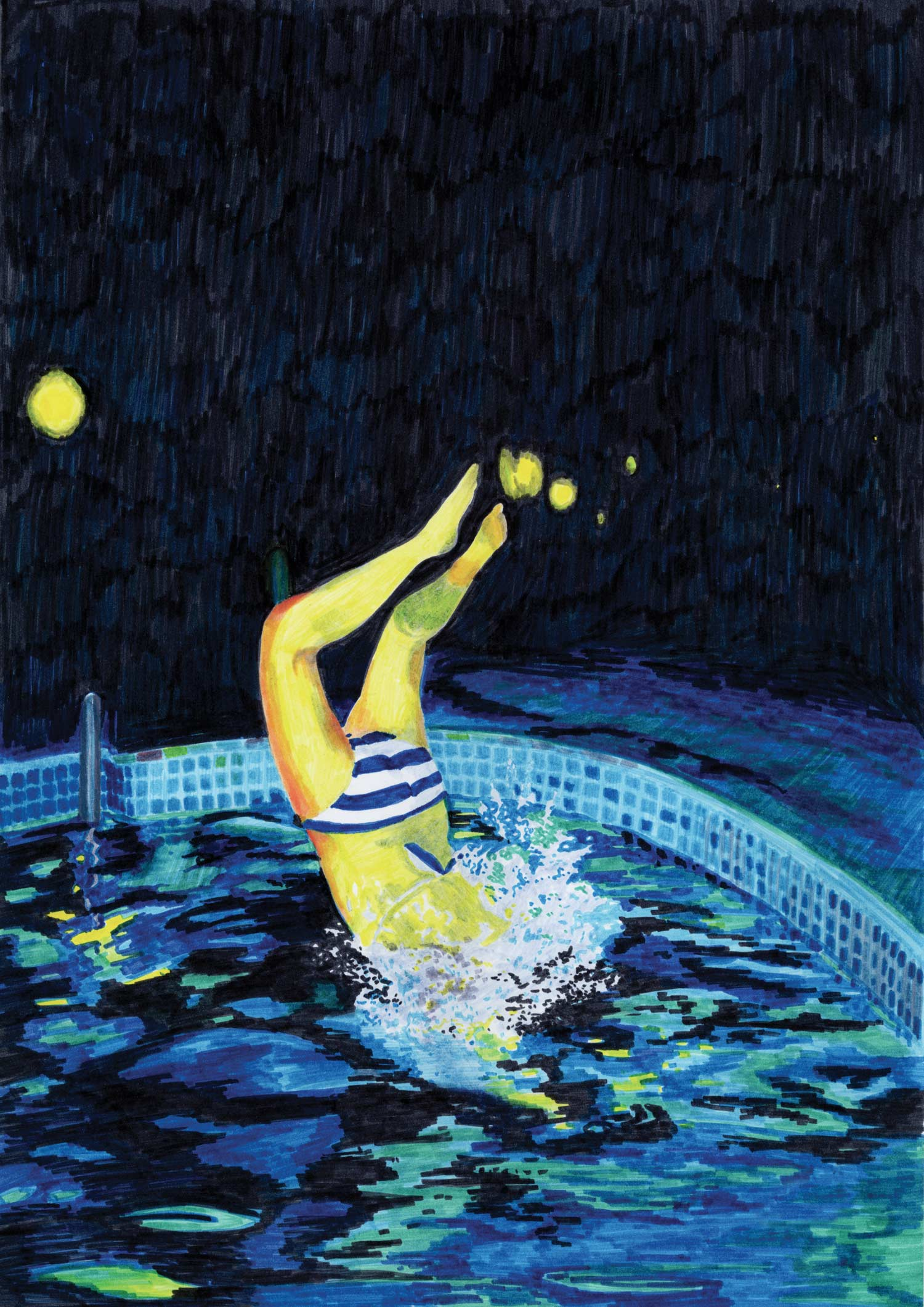 eau_plongeon_nuit_feutre_illustration_piscine_molesti