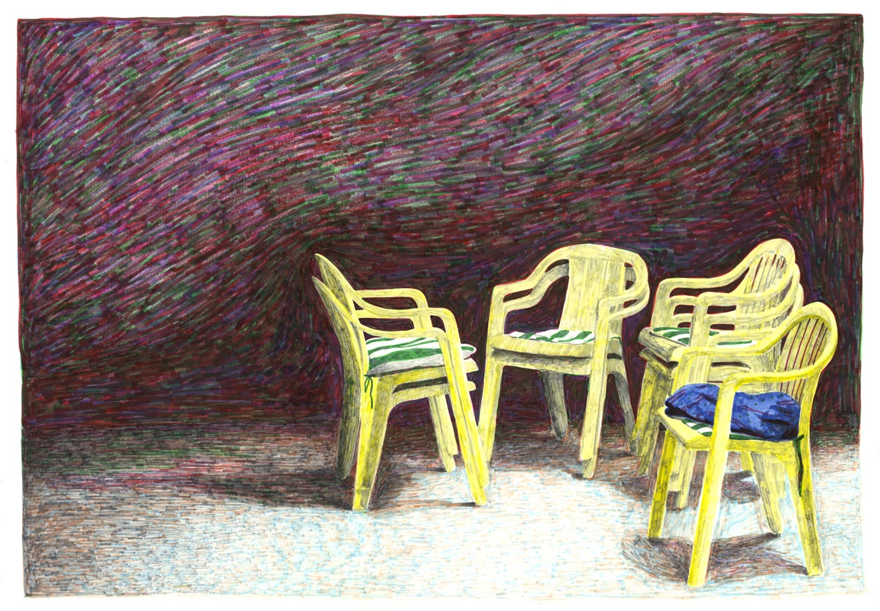 chaises_feutre_chair_night_drawing_dessin_art_molesti